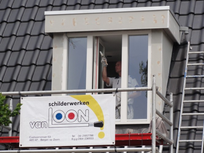 Buitenschilderwerk nieuwbouw de Schans, Halsteren